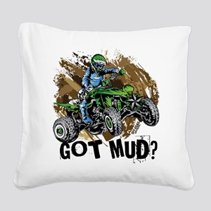 Got Mud ATV Quad Square Canvas Pillow
